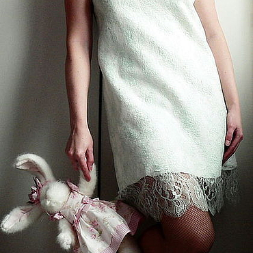 """Одежда ручной работы. Ярмарка Мастеров - ручная работа Авторское кружевное валяное платья """"Mint breeze"""". Handmade."""