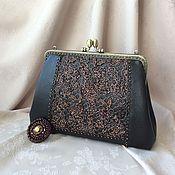 Сумки и аксессуары handmade. Livemaster - original item Handbag evening leather and lace DOLCE VITA. Handmade.