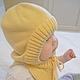 Для новорожденных, ручной работы. Шапка шлем трансформер. Наталья (babbie). Ярмарка Мастеров. Шапка шлем