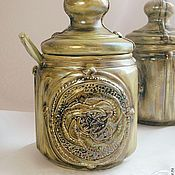 Посуда handmade. Livemaster - original item Saltcellar (sugar bowl)