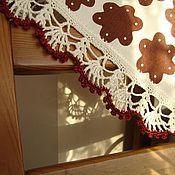 """Для дома и интерьера ручной работы. Ярмарка Мастеров - ручная работа Салфетка """"Имбирное печенье"""". Handmade."""