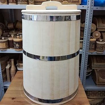 Для дома и интерьера ручной работы. Ярмарка Мастеров - ручная работа Бочка деревянная 100 литров. Бочка из кедра для воды бани. Handmade.