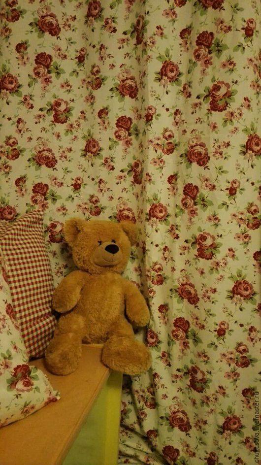 """Текстиль, ковры ручной работы. Ярмарка Мастеров - ручная работа. Купить Шторы для окна и балдахина """"Тысяча роз"""". Handmade."""