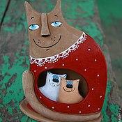 """Куклы и игрушки ручной работы. Ярмарка Мастеров - ручная работа Кошка-мамочка """"Двойня"""". Handmade."""