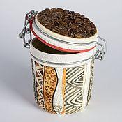 Посуда ручной работы. Ярмарка Мастеров - ручная работа Банка для хранения кофе. Handmade.