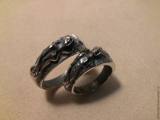 Кольца ручной работы. Ярмарка Мастеров - ручная работа. Купить Обручальные кольца. Handmade. Кольцо, колечко, кольца супругам, серебро