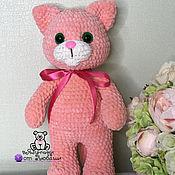Куклы и игрушки handmade. Livemaster - original item Soft toy cat made of plush yarn cat as a gift. Handmade.