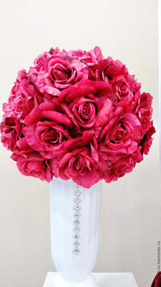 Цветы ручной работы. Ярмарка Мастеров - ручная работа. Купить Шар из искусственных цветов. Handmade. Шар, искусственные цветы, ткань