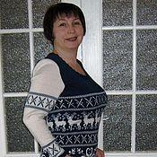 Одежда ручной работы. Ярмарка Мастеров - ручная работа Платье теплое Норвегия. Handmade.