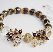 Украшения handmade. Livemaster - original item Garnet bracelet Natural stones gold Plated. Handmade.