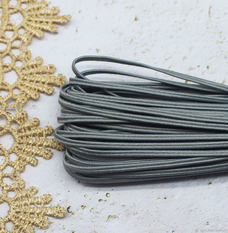 Сутаж белорусский 2,5 мм Серый 1 метр, Шнуры, Соликамск,  Фото №1