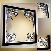 Для дома и интерьера ручной работы. Ярмарка Мастеров - ручная работа Зеркало настенное в раме в стиле модерн. Handmade.