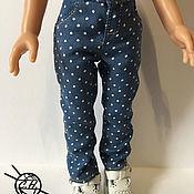 Одежда для кукол ручной работы. Ярмарка Мастеров - ручная работа Джинсы для кукол ПАОЛА Рейна. Handmade.