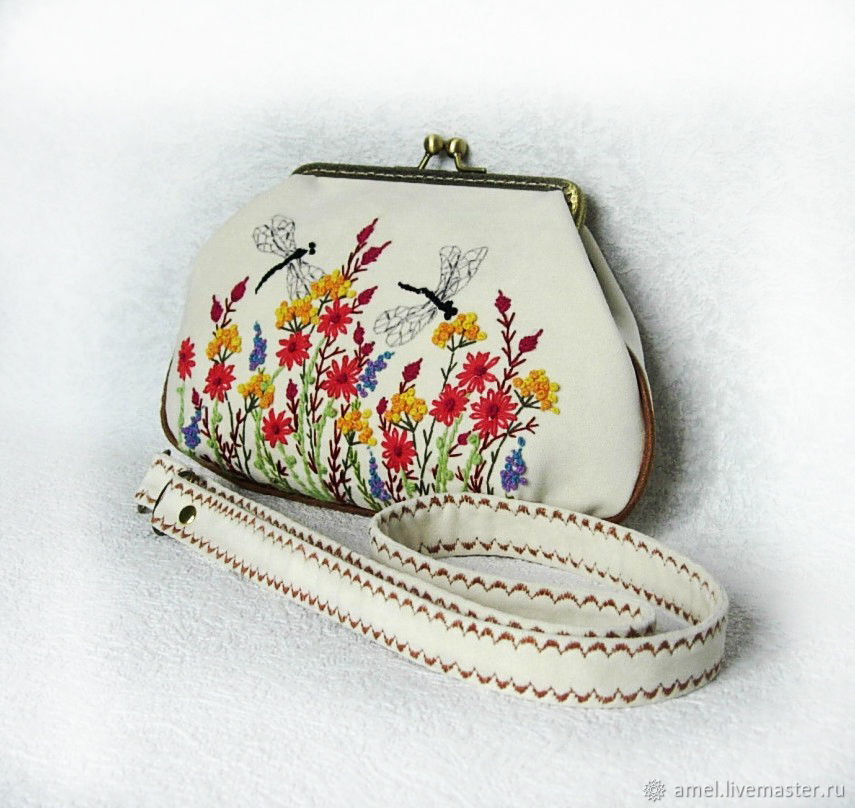 Bag with clasp: Handbag 'the transparent Wings of a dragonfly', Clasp Bag, Izhevsk,  Фото №1