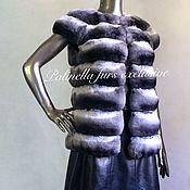 Одежда ручной работы. Ярмарка Мастеров - ручная работа Меховая жилетка из шиншиллы. Handmade.