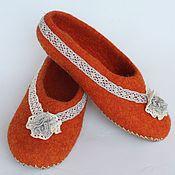 """Обувь ручной работы. Ярмарка Мастеров - ручная работа Тапочки """"Рыжик"""". Handmade."""