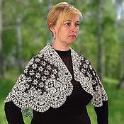 Аксессуары handmade. Livemaster - original item Cape EXPANSE Vologda Vyatka lace. Handmade.