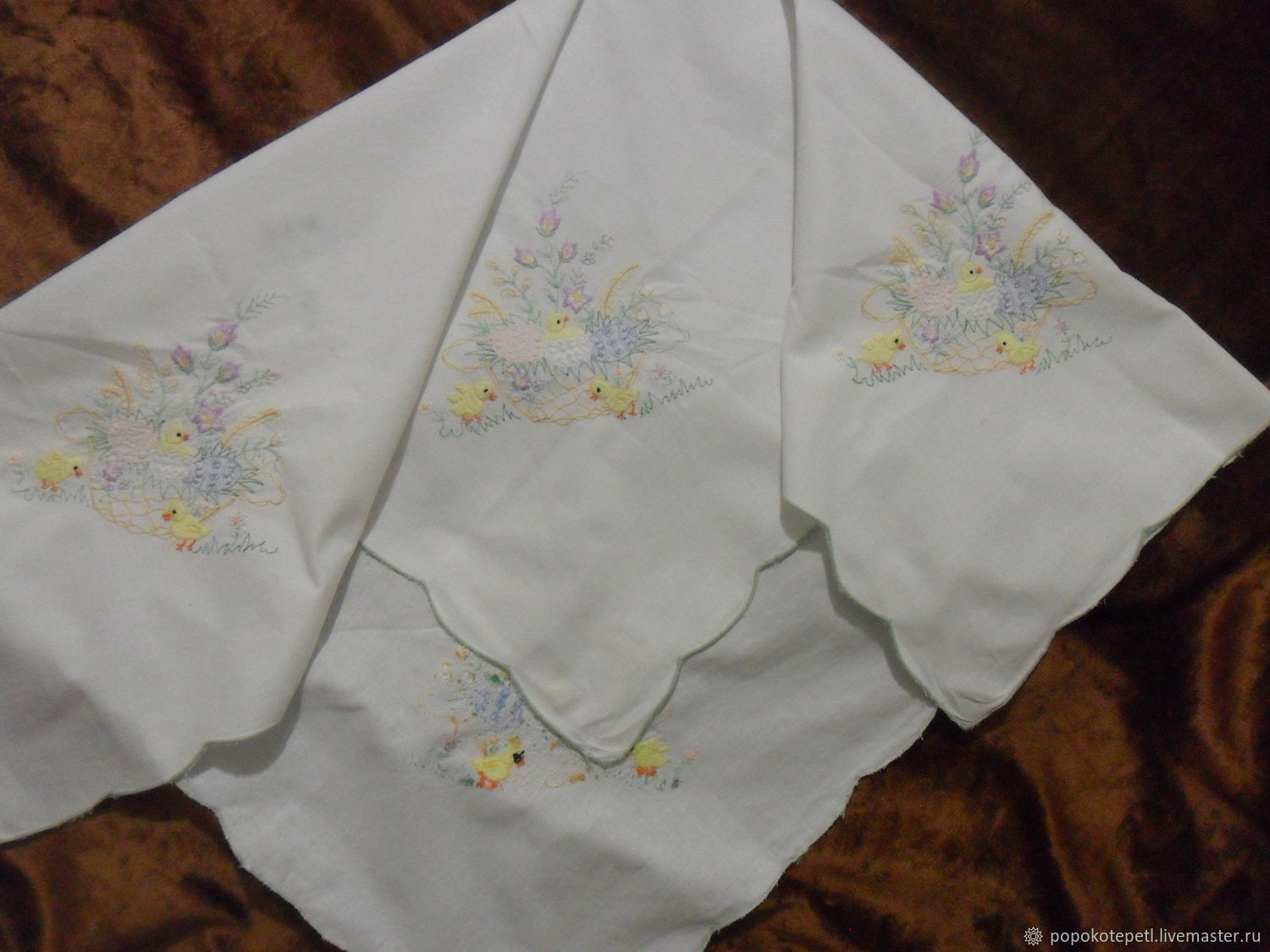 table cloth with easter story cotton vintage germany shop online rh livemaster com