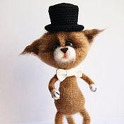 Куклы и игрушки ручной работы. Ярмарка Мастеров - ручная работа Котенок джентельмен. Handmade.