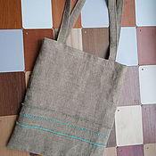 Сумки и аксессуары handmade. Livemaster - original item Eco-bag-shopper from nettle of a natural shade. Handmade.