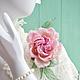 "Цветы ручной работы. Роза из шелка ""Princesse Grace"". Цветы из ткани. Оксана Чистова (Flower Festival). Ярмарка Мастеров."