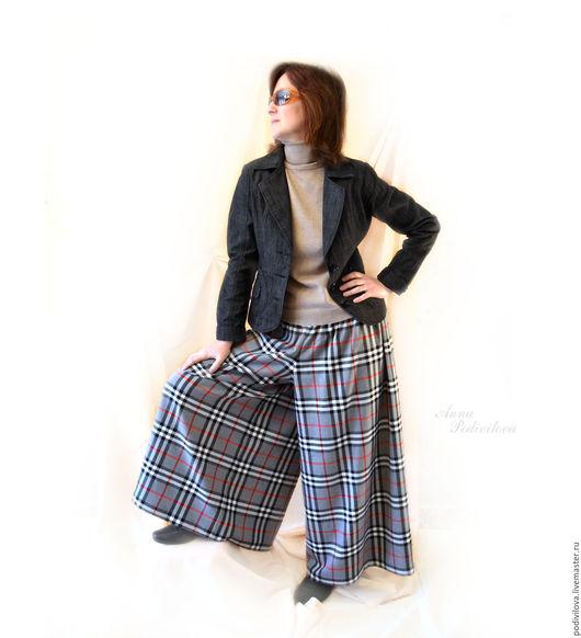 Кюлоты, юбка-брюки,брюки женские.осенние,весенние ,зимние . Женственная одежда.Бохо, брюки на резинке, клетчатые ,Одежда большие размеры.Модные брюки. Брюки интернет магазин, брюки теплые .