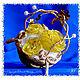 Интерьерные композиции ручной работы. Ярмарка Мастеров - ручная работа. Купить Интерьерная композиция. Золотистая корзинка с желтыми розами. Handmade.