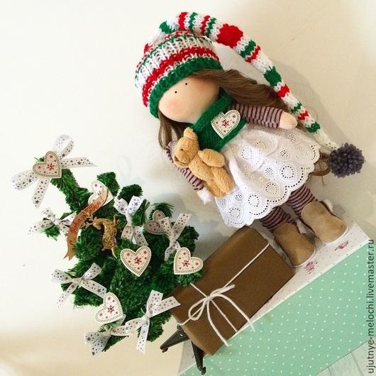 Коллекционные куклы ручной работы. Ярмарка Мастеров - ручная работа. Купить Гномочка. Handmade. Ярко-красный, подарок девушке