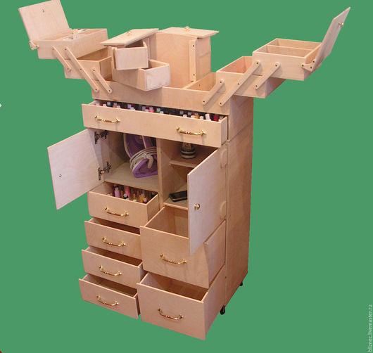 Мебель ручной работы. Ярмарка Мастеров - ручная работа. Купить Швейный шкафчик 550мм х 250мм х 1025мм. Handmade.