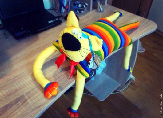 Игрушки животные, ручной работы. Ярмарка Мастеров - ручная работа. Купить Кот Теодор. Handmade. Желтый, радужный кот, игрушка