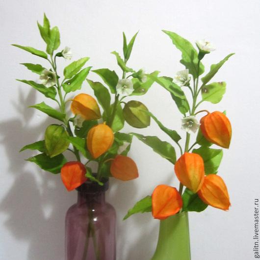 Интерьерные композиции ручной работы. Ярмарка Мастеров - ручная работа. Купить Оранжевый привет в цветках физалиса..... Handmade. Оранжевый, осень