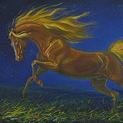 """Картины и панно ручной работы. Ярмарка Мастеров - ручная работа Картина с лошадью """" Рыжий сон"""". Handmade."""