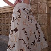 Одежда ручной работы. Ярмарка Мастеров - ручная работа Льняная длинная юбка Nature. Handmade.