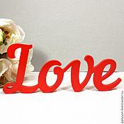 Для дома и интерьера ручной работы. Ярмарка Мастеров - ручная работа Объемное слово Love №2. Handmade.