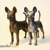 Для дома и интерьера ручной работы. Ярмарка Мастеров - ручная работа ТОЙ-ТЕРЬЕР - статуэтка (оловянная миниатюрная фигурка собаки). Handmade.