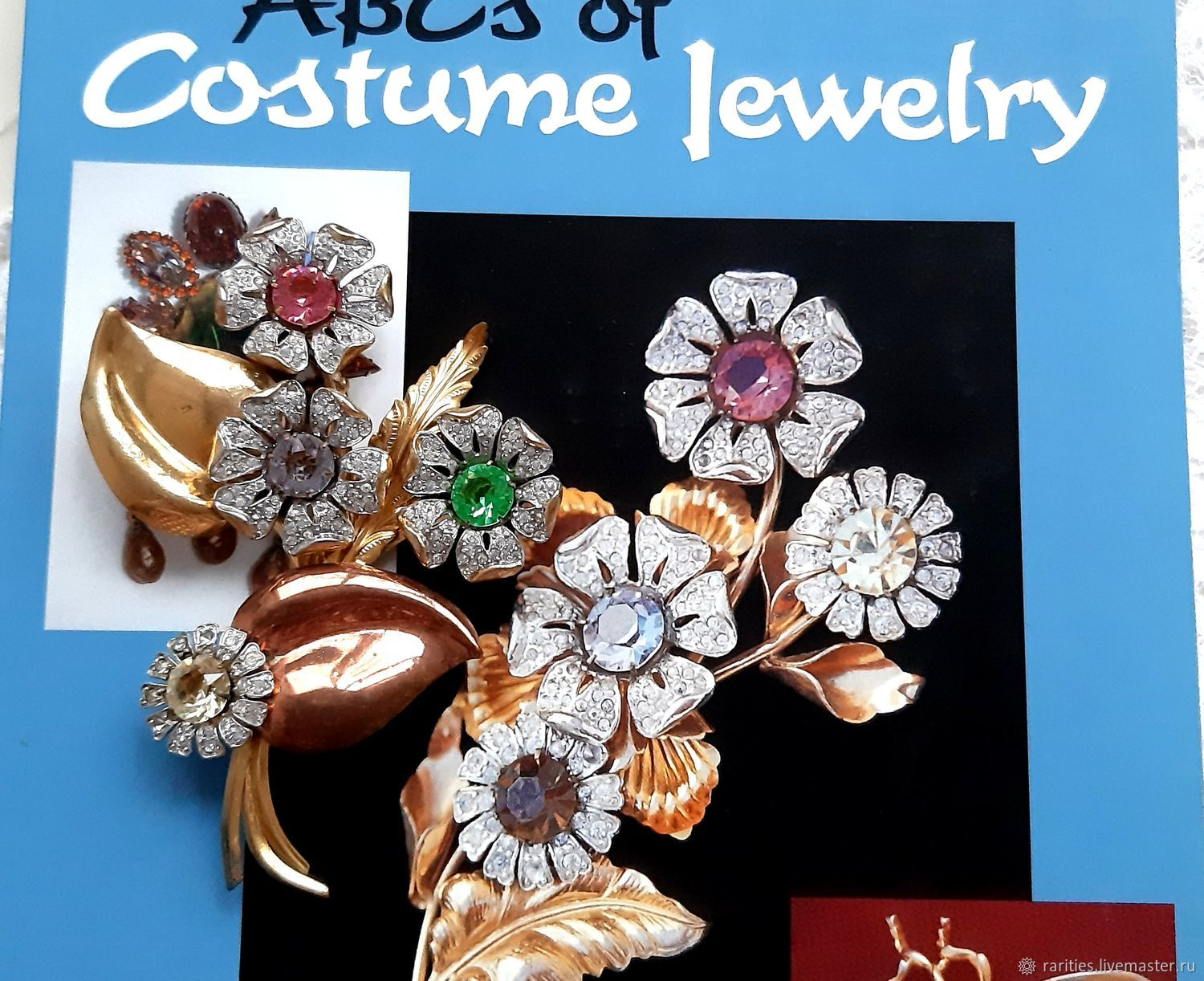 Brooch Chic bouquet of flowers, USA, ,40s, from the cover of the catalog, large, Vintage brooches, Moscow,  Фото №1