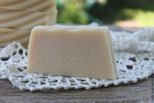 Мыло-шампунь ручной работы. Ярмарка Мастеров - ручная работа. Купить Натуральное мыло-шампунь на козьем молоке. Handmade. Бежевый