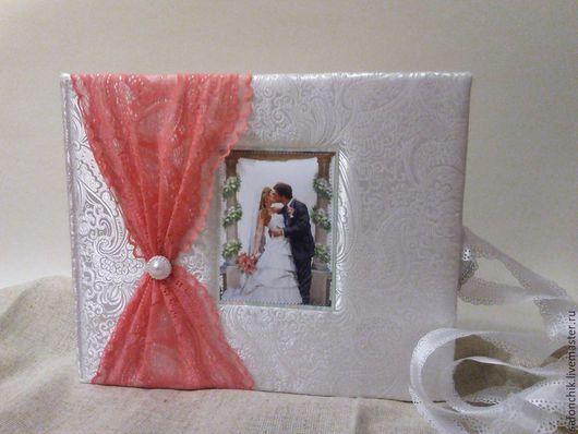 Свадебные фотоальбомы ручной работы. Ярмарка Мастеров - ручная работа. Купить Свадебный альбом для фото. Handmade. Разноцветный, свадебный альбом