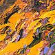 """Пейзаж ручной работы. Заказать Картина с домиком """"Осенние Сумерки"""" (холст, масло). ЯРКИЕ КАРТИНЫ Наталии Ширяевой. Ярмарка Мастеров."""