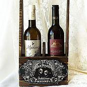 Для дома и интерьера handmade. Livemaster - original item Wine box basket Jack Daniel`s. Handmade.