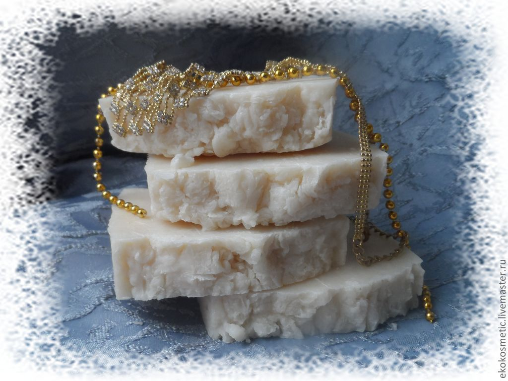 Мыло ручной работы. Ярмарка Мастеров - ручная работа. Купить Миндальное Ши. ШИкарное мыло с нуля с маслом каритэ (ши). Handmade.