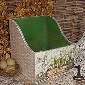 """Для дома и интерьера ручной работы. Ярмарка Мастеров - ручная работа Короб """"Весенний уголок"""". Handmade."""