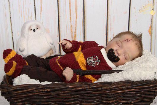 Одежда для мальчиков, ручной работы. Ярмарка Мастеров - ручная работа. Купить Свитер Гарри Поттера. Handmade. В полоску, полушерсть
