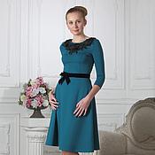 Одежда ручной работы. Ярмарка Мастеров - ручная работа 086: коктейльное платье со стразами Swarovski, офисное платье. Handmade.
