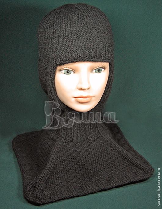 Шапки и шарфы ручной работы. Ярмарка Мастеров - ручная работа. Купить Шапка - шлем Стиль и удобство вязаная, зимняя, детская. Handmade.