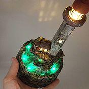 Ночники ручной работы. Ярмарка Мастеров - ручная работа Ночник миниатюра светильник Маяк. Handmade.
