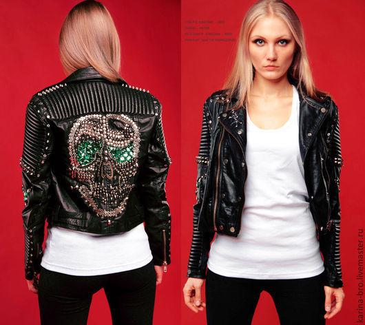 """Верхняя одежда ручной работы. Ярмарка Мастеров - ручная работа. Купить Кожаная куртка в байкерском стиле """"Аsparagus"""". Handmade. Черный"""