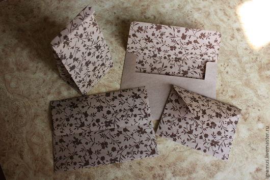 Подарочная упаковка ручной работы. Ярмарка Мастеров - ручная работа. Купить Крафт пакет и крафт конверты с рисунком. Handmade. Коричневый