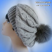 Аксессуары handmade. Livemaster - original item INSTRUCTIONS for knitting a beret. Handmade.