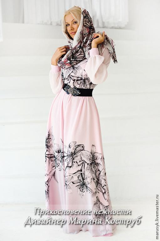 Платья ручной работы. Ярмарка Мастеров - ручная работа. Купить платье НП-8-Лилия. Handmade. Бледно-розовый, платье